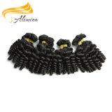 Extensão do cabelo do Virgin dos Peruvian do Weave 100% do cabelo da rainha de beleza