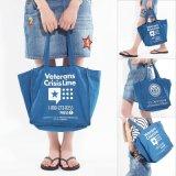 Form-Segeltuch-Einkaufen-Beutel für beiläufige neue große Beutel der Frauen-Mädchen-Dame-Blue Shopper Beach Bag