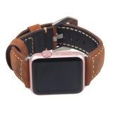 Bande de montre en cuir chaude pour le type de cru de bande/courroie de montre d'Apple