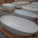 Vasca da bagno indipendente della pietra di superficie solida della resina acrilica di figura dell'uovo