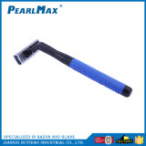 Camadas triplo de barbear descartáveis de plástico de segurança descartáveis de lâmina de barbear