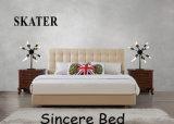 A17 미국식 침실 직물 침대 가죽 침대