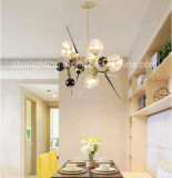 유리제 공 장식적인 실내 샹들리에 램프를 점화하는 가장 새로운 현대 간단한 작풍 프로젝트