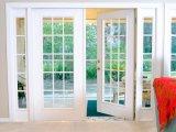 Puerta francesa de aluminio doble del vidrio Tempered con la red de mosquito