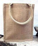 sac d'emballage de la toile de jute 100%Jute en tant que sacs de /Shopping /Lunch d'épicerie