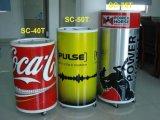 Глубокое стеклянного напитка питья бочонка двери холодного круглое - замораживатель (SC-50T)