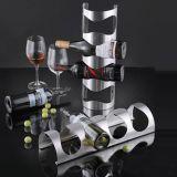 Hauptdekor-Wellen-moderner Entwurfs-Metallan der wand befestigte Wein-Zahnstange