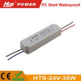 24V 1.5A 플라스틱 방수 LED 전력 공급 세륨 RoHS Hts 시리즈