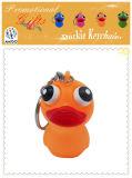 Reizendes Tierauge, Belüftung-orange Ente Keychain als Geschenk knallend