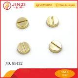 Forme de vis métalliques Rivets rivets décoratifs Customed sac