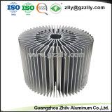 6063 T5 Ronda extrusión de aluminio para disipador de calor LED
