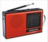 FM/AM/SW1-7 9 полосы портативный радиоприемник с USB/TF/АККУМУЛЯТОР/Bluetooth динамик