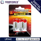 Mercury&Cadmium freie China Fabrik-Digital-alkalische Batterie (LR14/C size/AM 2)