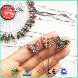 Mariposa de cristal 55mm de metal de la cabeza el Islam la bufanda Pin