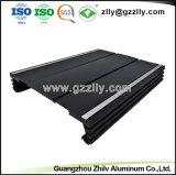 A China o dissipador de calor em alumínio anodizado preto com extrusão ISO9001