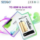 Kit liquidi del dispositivo d'avviamento del vapore di Seego Tc-50W+G-Hit K3 con il vapore enorme
