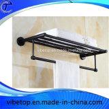 Banho de aço inoxidável toalha Toalheiro Anel preto