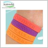 bracelete colorido 202mm do silicone do silicone para o presente relativo à promoção