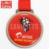 De in het groot Medaille van het Spel van de Voetbal van het Voetbal van de Douane, de Trofeeën van het Voetbal en Medaille