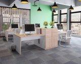 Cor de madeira elegante computador pessoal do escritório Comercial Tabela de estação de trabalho