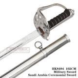 Spada cerimoniale 102cm HK8494 dell'Arabia Saudita della spada militare Commanding della spada