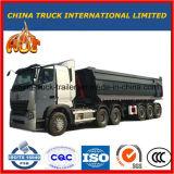 반 U 모양 3 차축 Cimc 팁 주는 사람 트럭 트레일러 덤프 트레일러