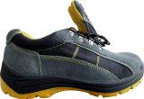 Ботинки безопасности пальца ноги промышленной кожаный работы стальные