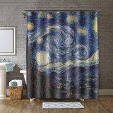 Encantador hotel Galaxy Imprimir Efeito pendurar pesadas cortinas de chuveiro de tecido