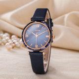 Reloj de la mujer del regalo de la correa de cuero del ODM del servicio de encargo del reloj (Wy-123E)