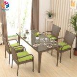Hly Muebles de Exterior mesa de jardín mesas y sillas de ratán