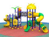 2017 جديد خارجيّ بلاستيكيّة رخيصة ملعب منزلق لأنّ أطفال