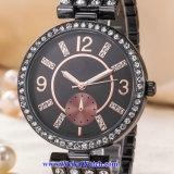 Het Polshorloge van de Manier van het Horloge van het Kwarts van de Mensen van het Embleem van de douane voor de Mens (wy-17004C)