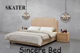 미국식 가정 침실 직물 침대