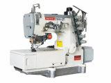 Máquina de coser del dispositivo de seguridad de alta velocidad estupendo de la base plana con el condensador de ajuste auto