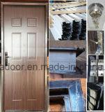 Populares de la puerta de acero americano solo vidrio interior puerta de metal (Ef-A006D)