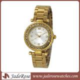 Horloge van het Kwarts van de Legering van het Horloge van de Dames van de Diamant van de luxe het Toevallige Waterdichte
