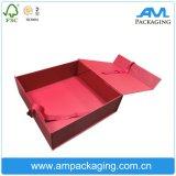 Fermeture magnétique pliable Boîte de dialogue Impression d'emballage carton pliant avec ruban