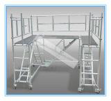 Coffre-fort approuvé ce tour d'échafaudage en aluminium pour l'entretien