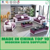 Divan sectionnel en cuir moderne de meubles en bois modulaires de sofa