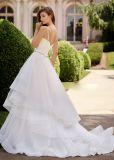 Амели скалистых спагетти ремни рельефная оборками свадебные платья устраивающих Gowns шаровой опоры рычага подвески