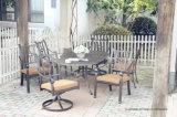 オールドスタイルの庭の石ポート7PC。 一定の家具の食事