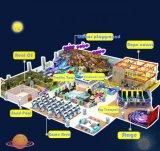 Los niños divertido parque de juegos de plástico suave Niño Casas Indoor Zona de juegos