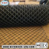 Maillon de chaîne enduit de poudre noire clôturant pour le terrain de basket