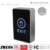 No toque la puerta de salida de infrarrojos suelte el botón de control de acceso