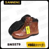 スムーズな革が付いている安全靴