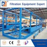 Máquina de la prensa de filtro del tratamiento de aguas de DZ con la bandeja automática del goteo
