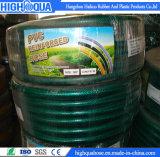 Mangueira reforçada PVC flexível da água do jardim do verde