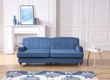 Sofá moderno do projeto simples da marinha da mobília da sala de visitas