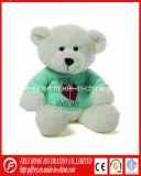 Blanc doux en peluche personnalisé Tshirt Teddy Bear