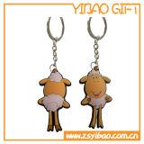 3D figura catena chiave di gomma, anello portachiavi del PVC, supporto chiave (YB-PK-50)